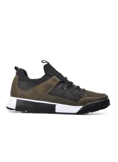 Slazenger Slazenger ZEBER Sneaker Erkek Ayakkabı Haki Haki